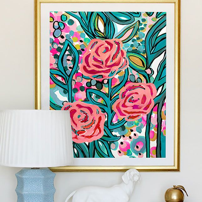 Add a pop of color to your walls.