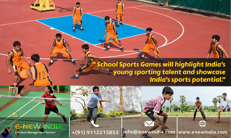 ENewIndiaSchool Software on School sports, School