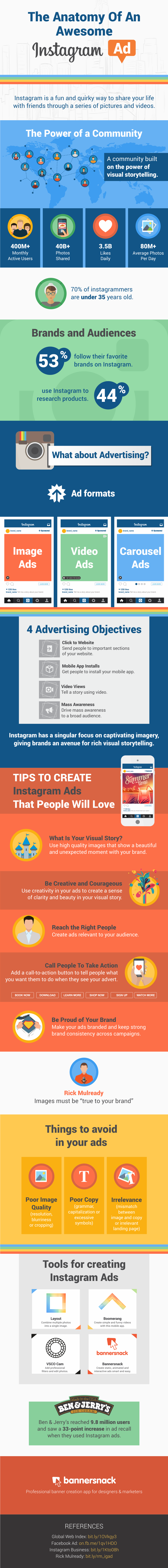 The Anatomy of an Awesome Instagram Ad #infographic