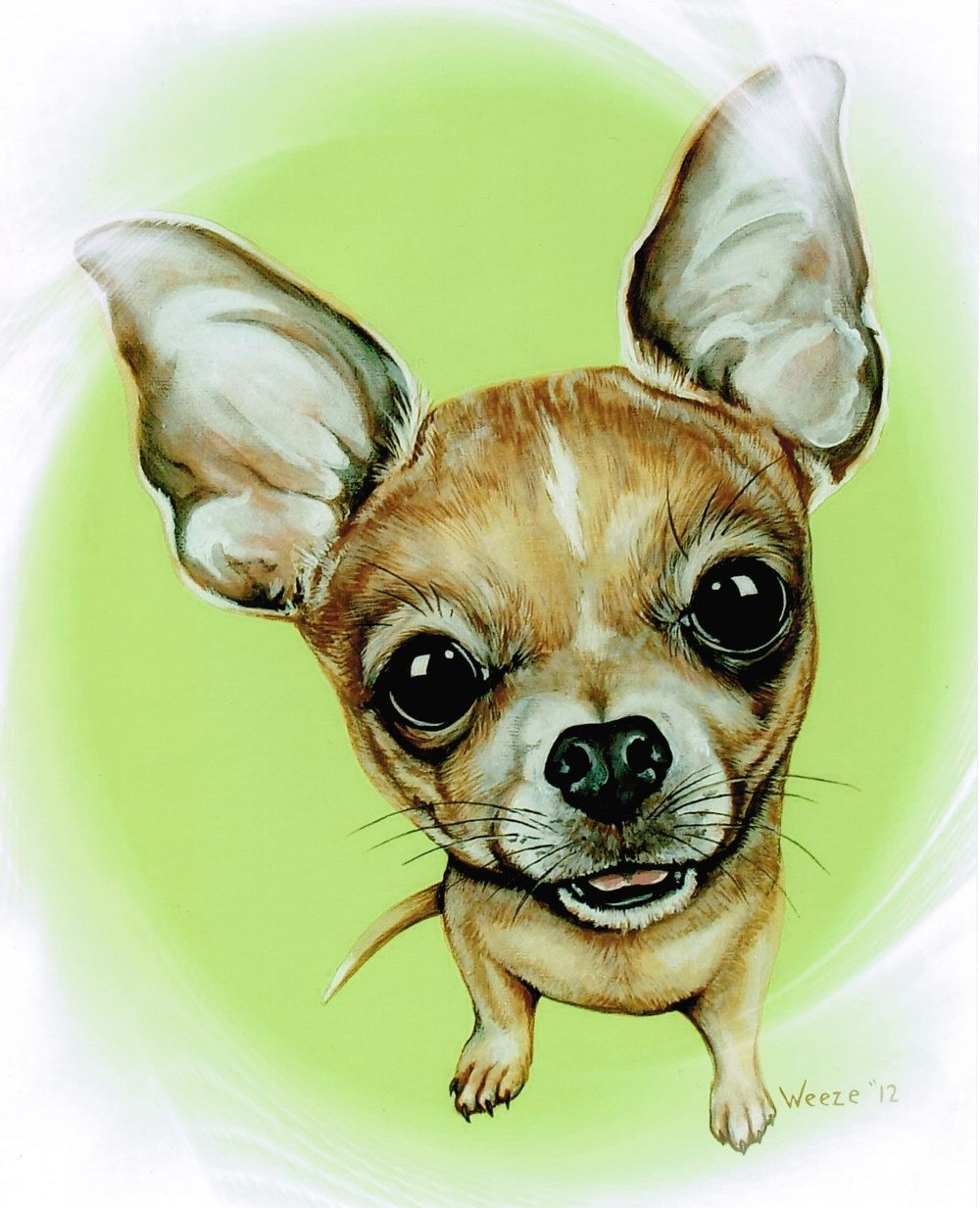 Chihuahua Chihuahua Art Chihuahua Print Tan Chihuahua Etsy Hondenkunst Honden Schilderijen Honden Portretten