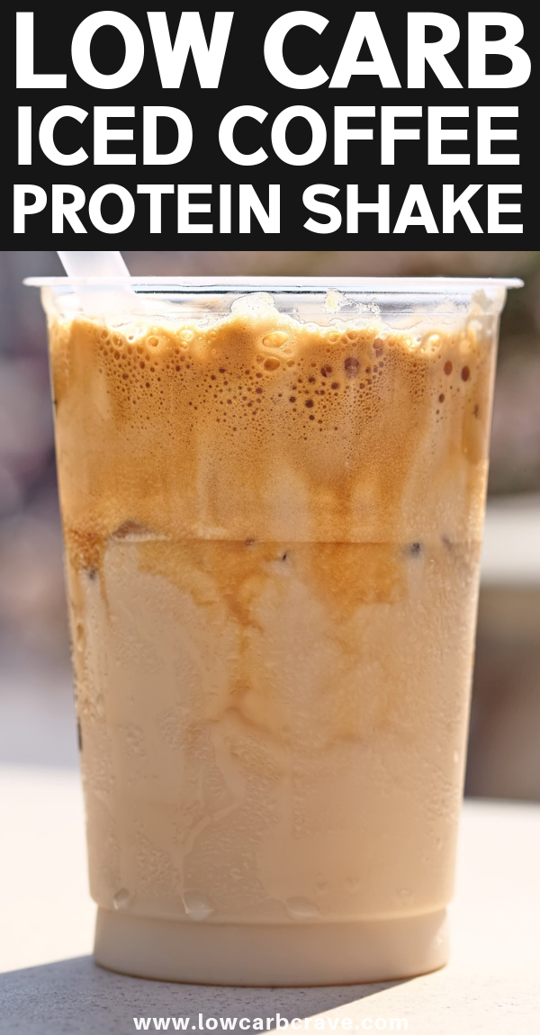 Healthy Low Carb Iced Coffee Protein Shake Recipe for Weight Loss #proteinshakes