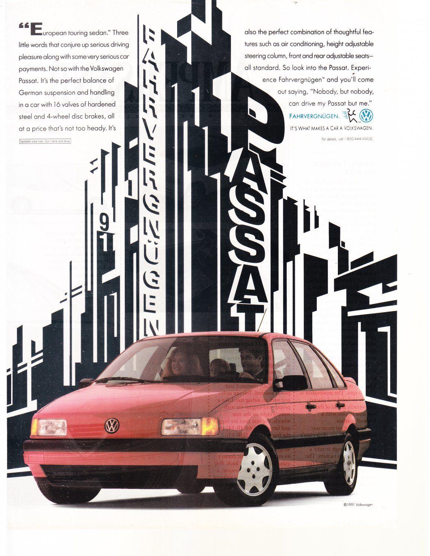 Vw Passat Magazine Advertisement Volkswagen Volkswagen Passat Vw Passat