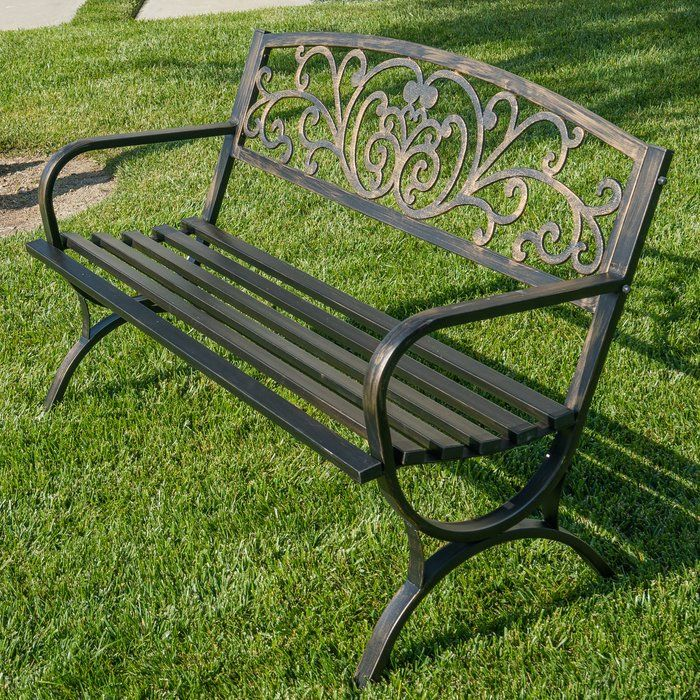 Make Your Outdoor Space Complete With The Garden Decorative Patio Bench To Sit And Rest On While Enjo Metal Garden Furniture Outdoor Bench Metal Garden Benches