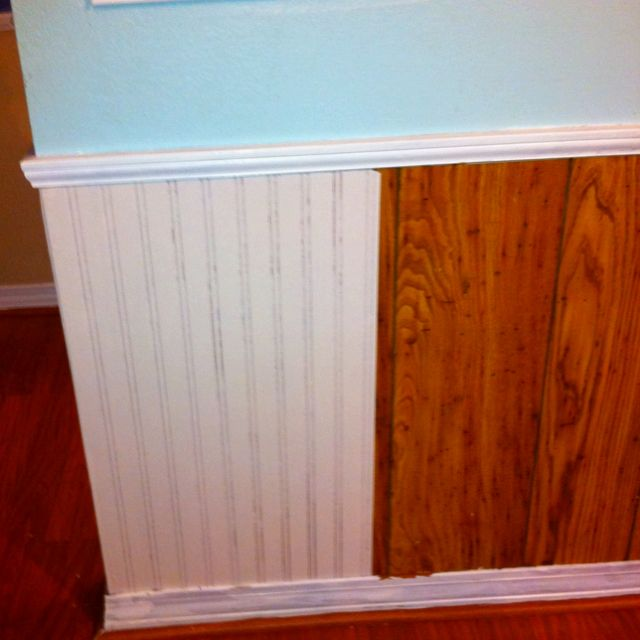 Paintable wallpaper over ugly paneling. | Products I Love | Pinterest | Paintable wallpaper ...