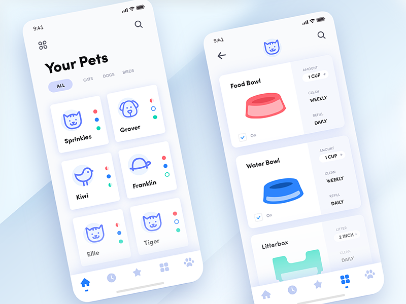 The Daily Hack 9  Automated Pet App is part of The Daily Hack  Automated Pet App By Andrea Hock - This is a concept app for all of your automated pet devices! Simply connect your pet's internetconnected food bowl, water bowl, and litter box, and set up recurring tasks  The app will fill up the