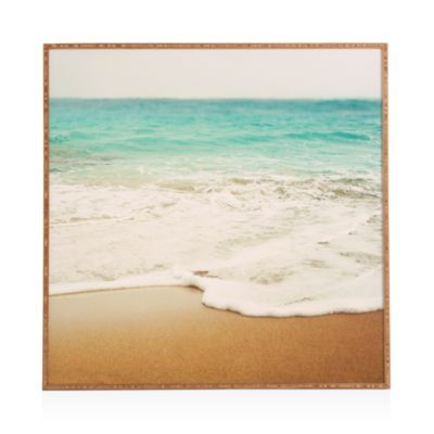 """DENY Ombre Beach Framed Print, 20"""" x 20"""" 