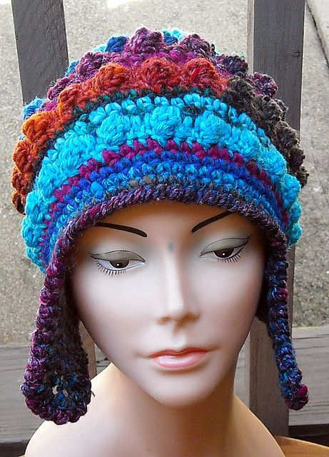 Free Form Crochet Hat With Earflaps By Woolmountain Google Search