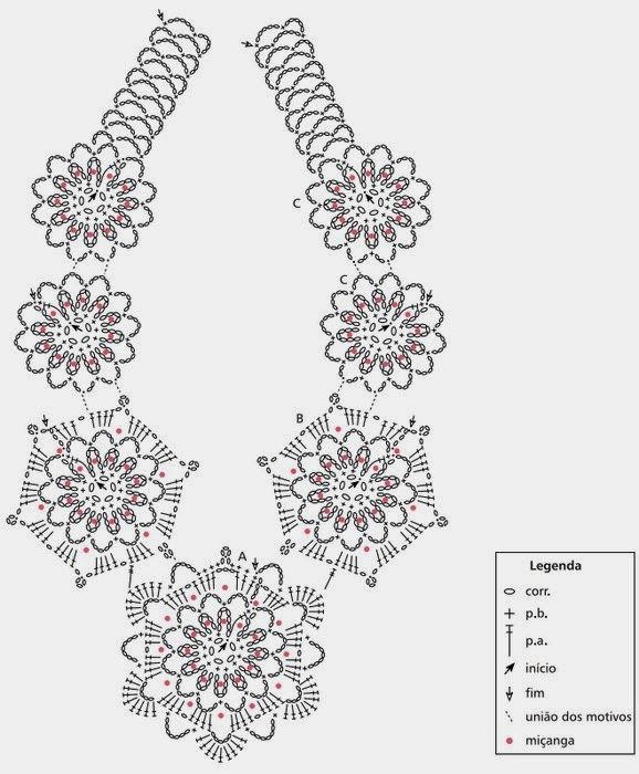 Gargantilla Mandalas Crochet Patron - Patrones Crochet | Collares ...