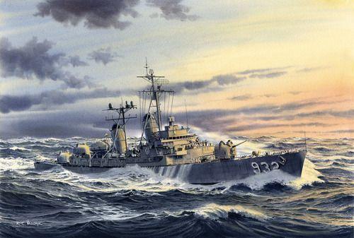"""14/"""" Print HMS Andromeda F57 Frigate Warship Royal Navy Painting Art Print"""
