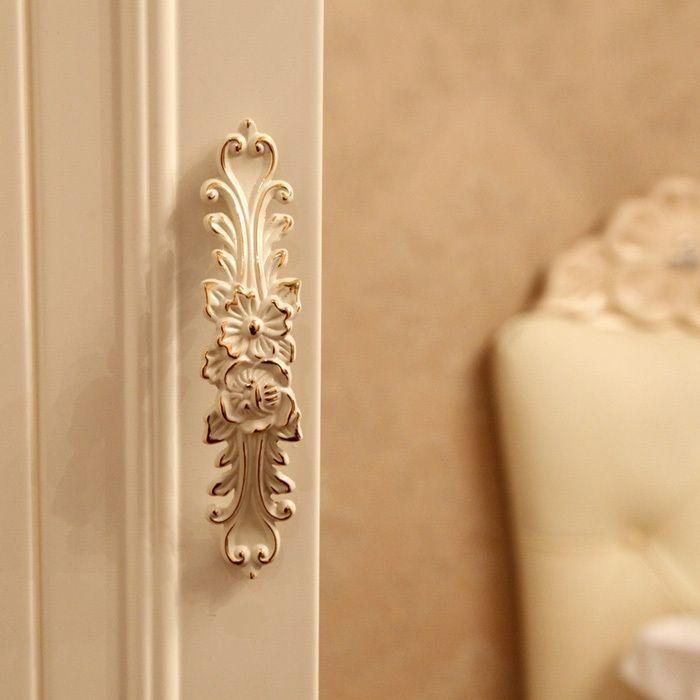 European Style Ivory White Cabinet Wardrobe Handles Knobs Dresser Drawer Kitchen Cupboard Door Handles Pulls 96mm