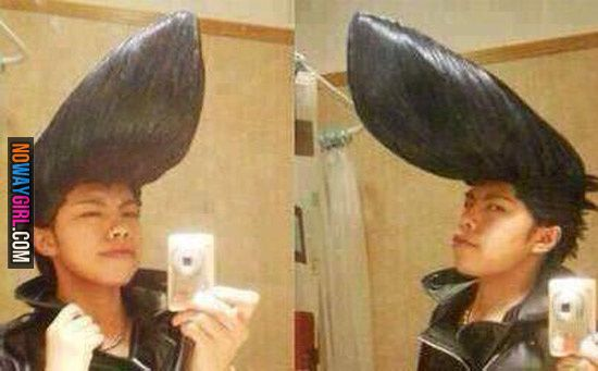 I Didn T Know That Johnny Bravo Was Real Hair Humor Johnny Bravo Asian Hair