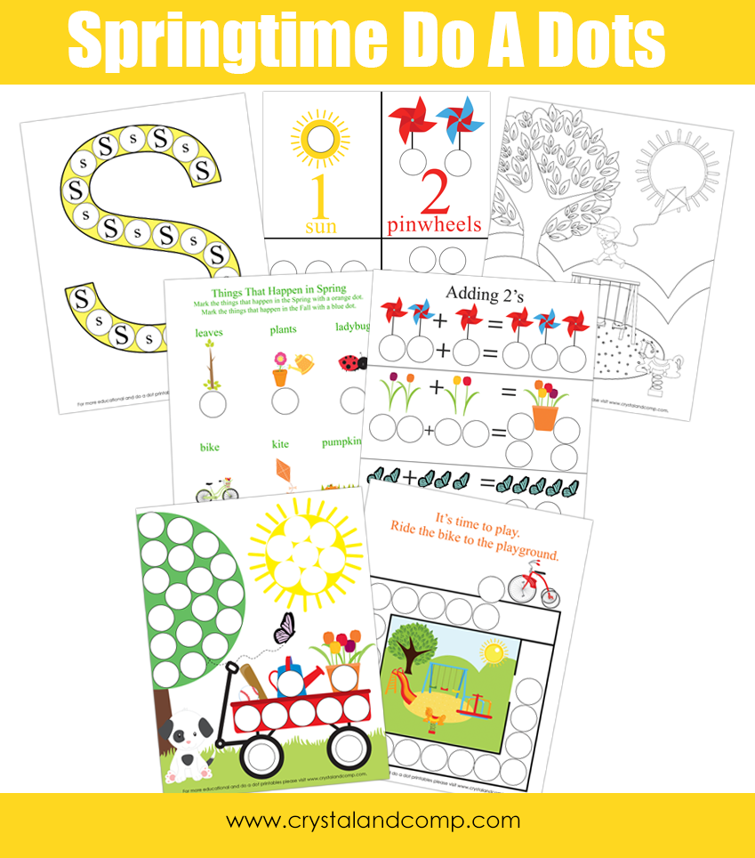 Spring Do A Dot Printables For Preschoolers Do A Dot Free Preschool Spring Preschool [ 964 x 849 Pixel ]