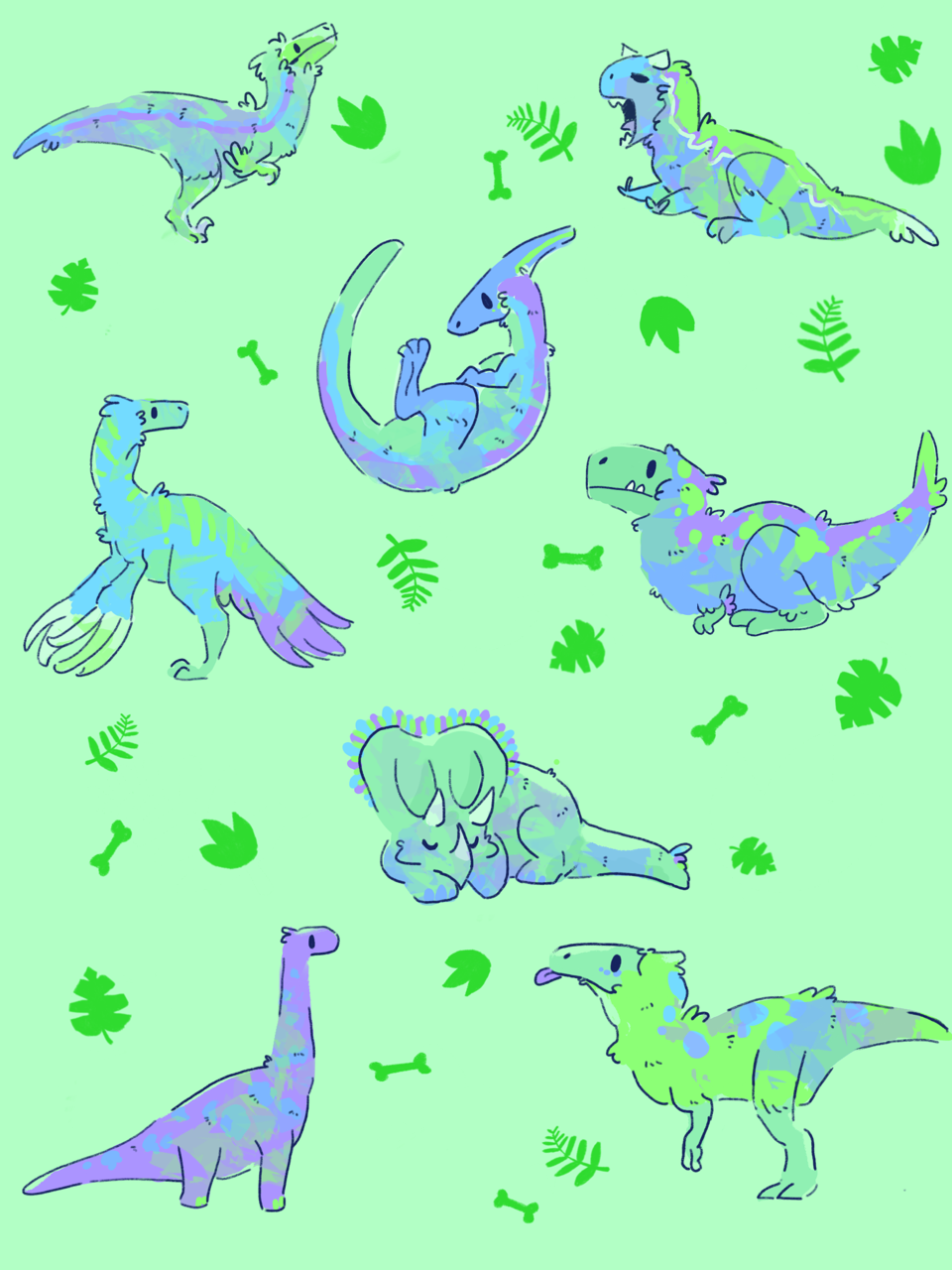 The cute aesthetic pastel palette of baby pink and other soft pink tones adds warmth and depth and spreads positivity effortlessly, while the high quality. doodlize🕳 — A feathered dinosaur wallpaper I finished ...