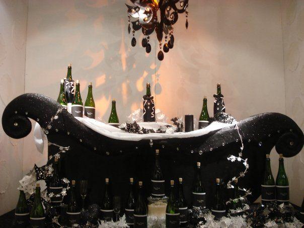 champagne display for christmas