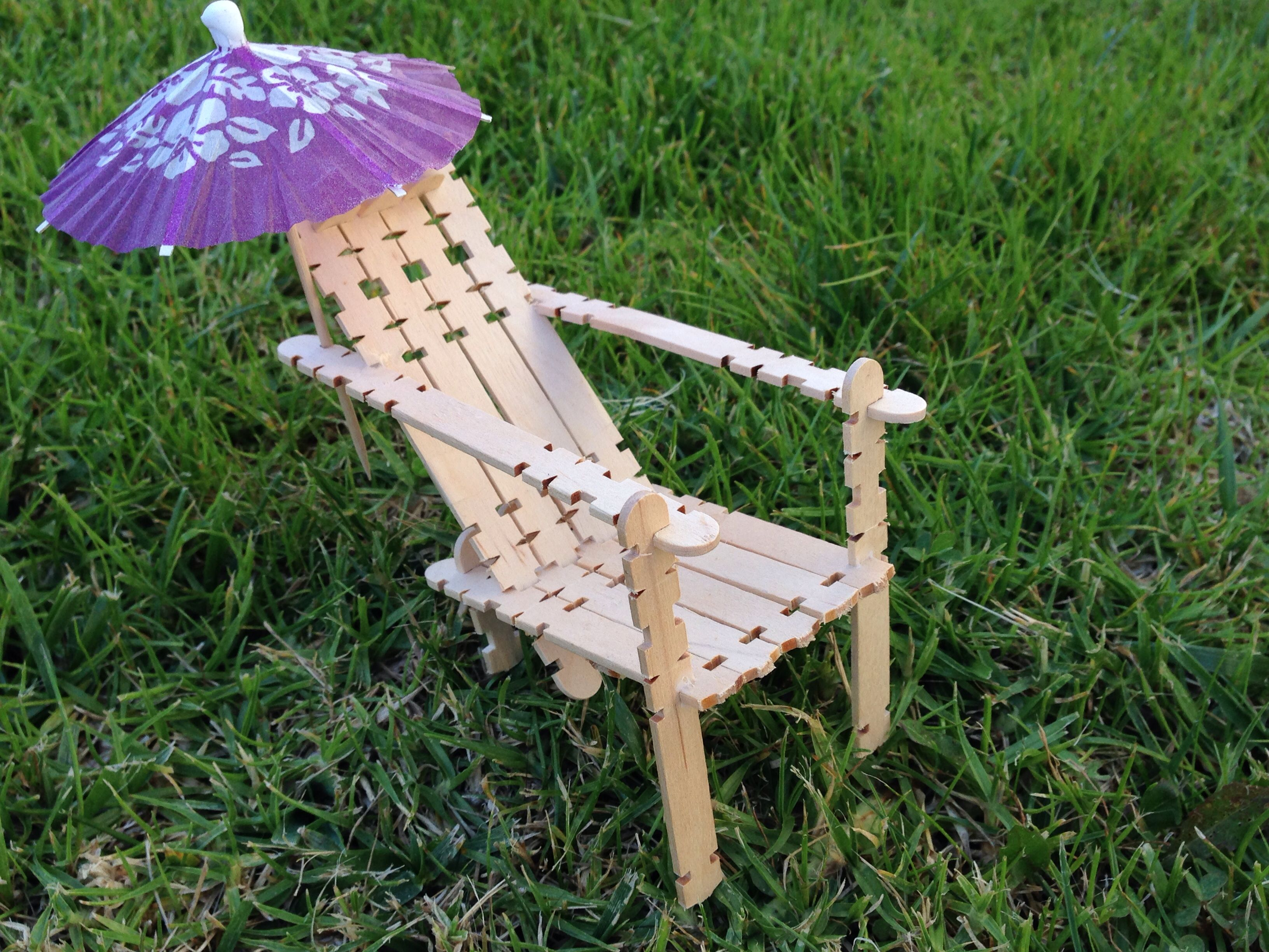 Beach Chair This Cute Beach Chair Is Made With Popsicle Sticks. I Got The  Kind