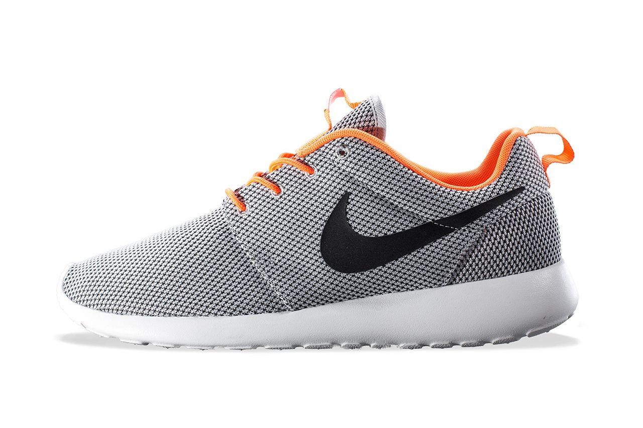 Nike Roshe Run Wolf GreyBlack Atomic Orange | Addict | Nike