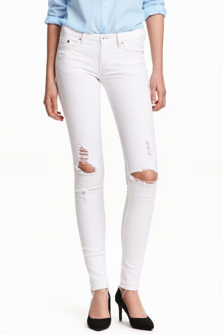 Super Skinny Low Trashed Jeans