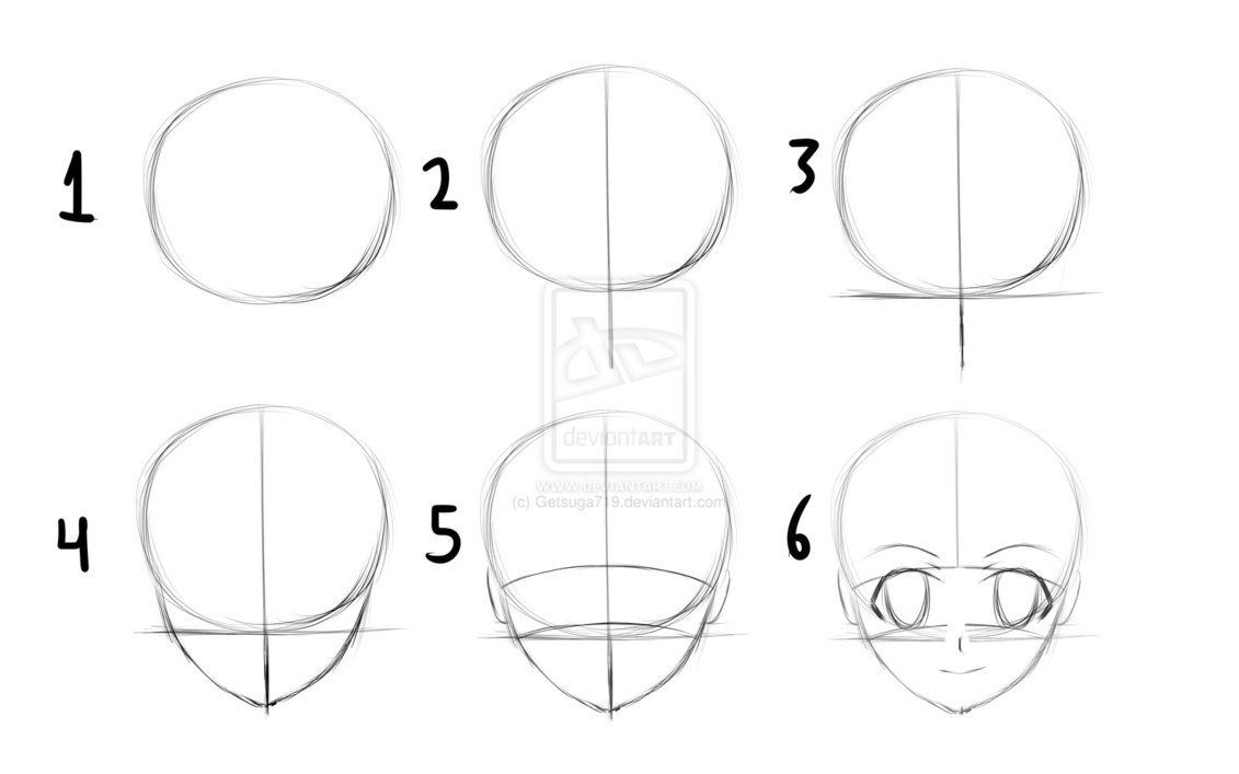 Templete Anime Drawings Tutorials