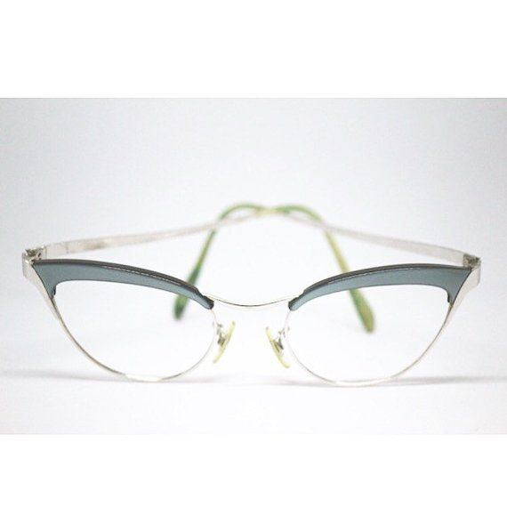 354500b81a Women s Vintage Mid Century Cat Eye Eyeglasses 12K Gold