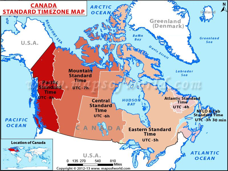 Canada Time Zone Map Maps Of The World Pinterest Time Zone - Map showing us time zones