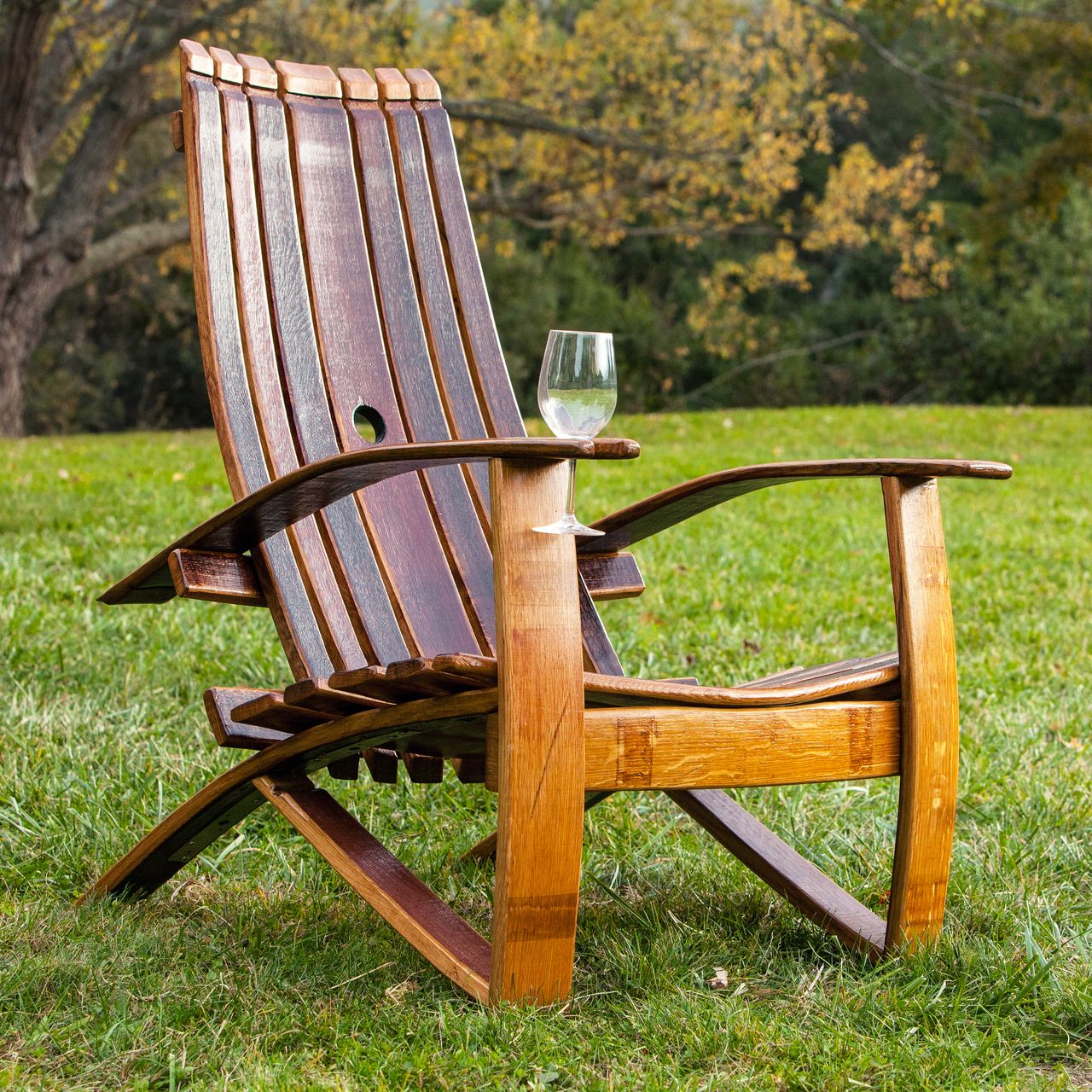 Wine Barrel Adirondack Chair Chairs Pinterest