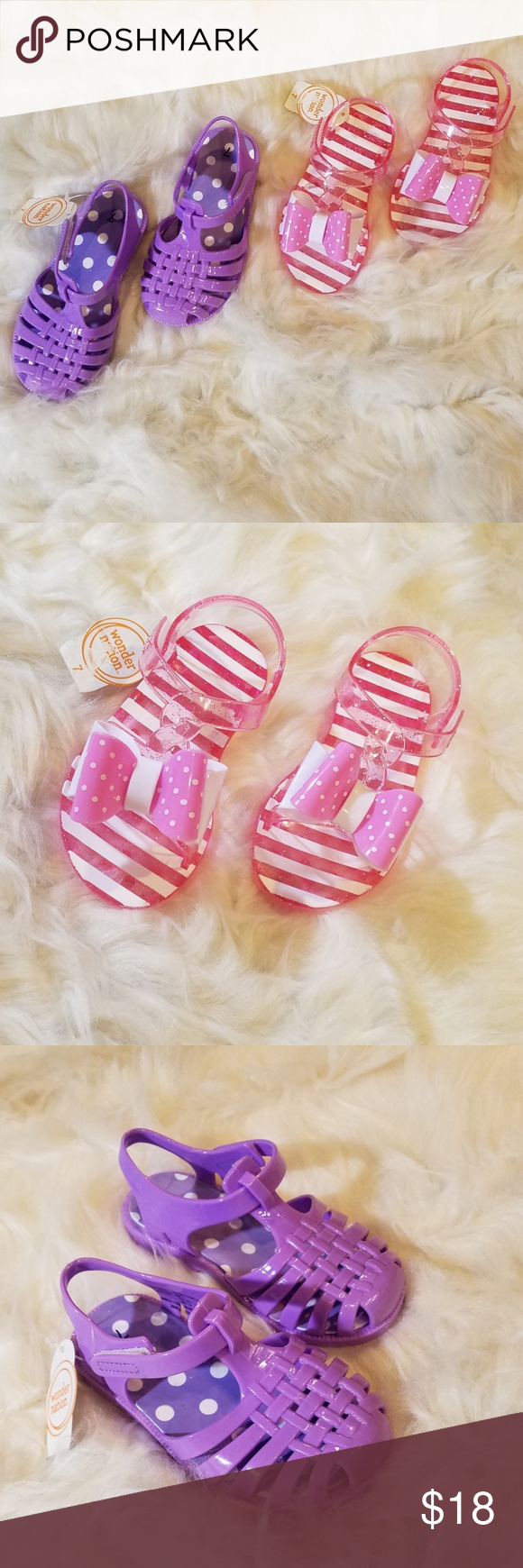 3b1ca4358 NWT 🏷 2 Pair of Purple Pink jelly toddler sandals Both New With Tags!