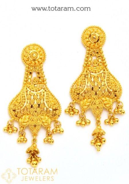 Gold Drop Earrings | Gold chandelier earrings, Chandelier ...