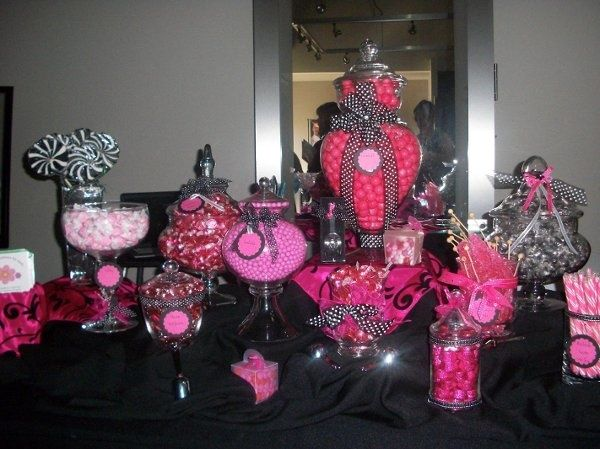Pink And Black Wedding Reception Ideas Pink And Black
