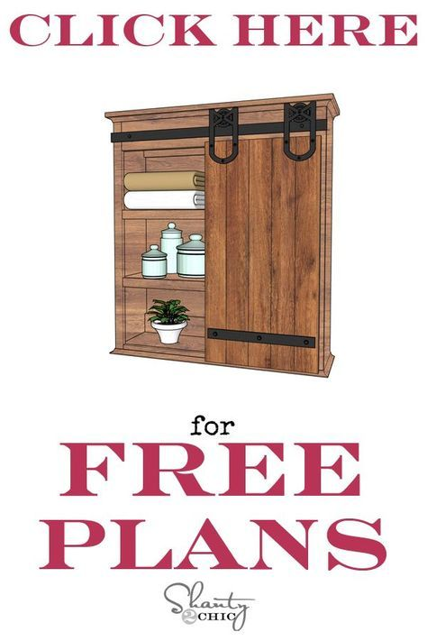 Diy Sliding Barn Door Bathroom Cabinet House Ideas Pinterest