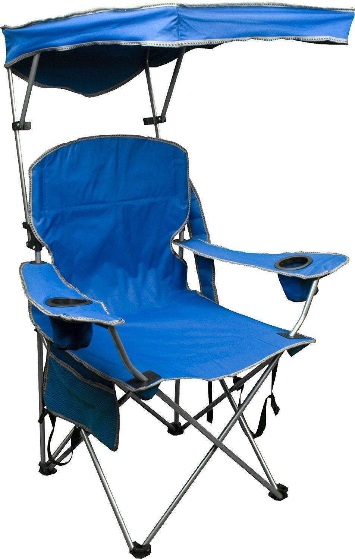 Quik Shade Adjustable Canopy Folding Camp Chair Beach