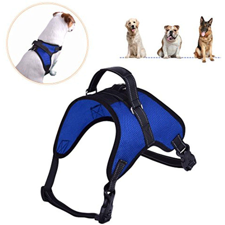 Dog Harness Adjustable Soft Mesh No Choke No Pull Breathable