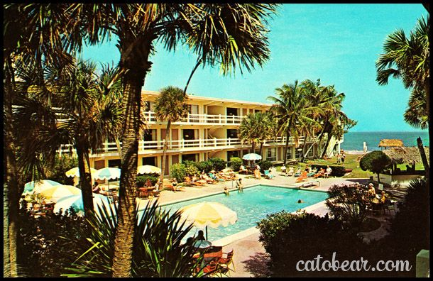 Vintage Postcard Traders Resort Motel Pompano Beach Florida