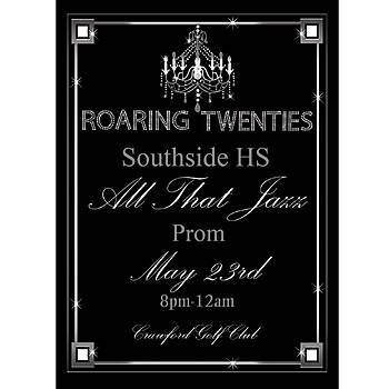 Our Roaring Twenties Stationary Card Invitations features a black - prom tickets design