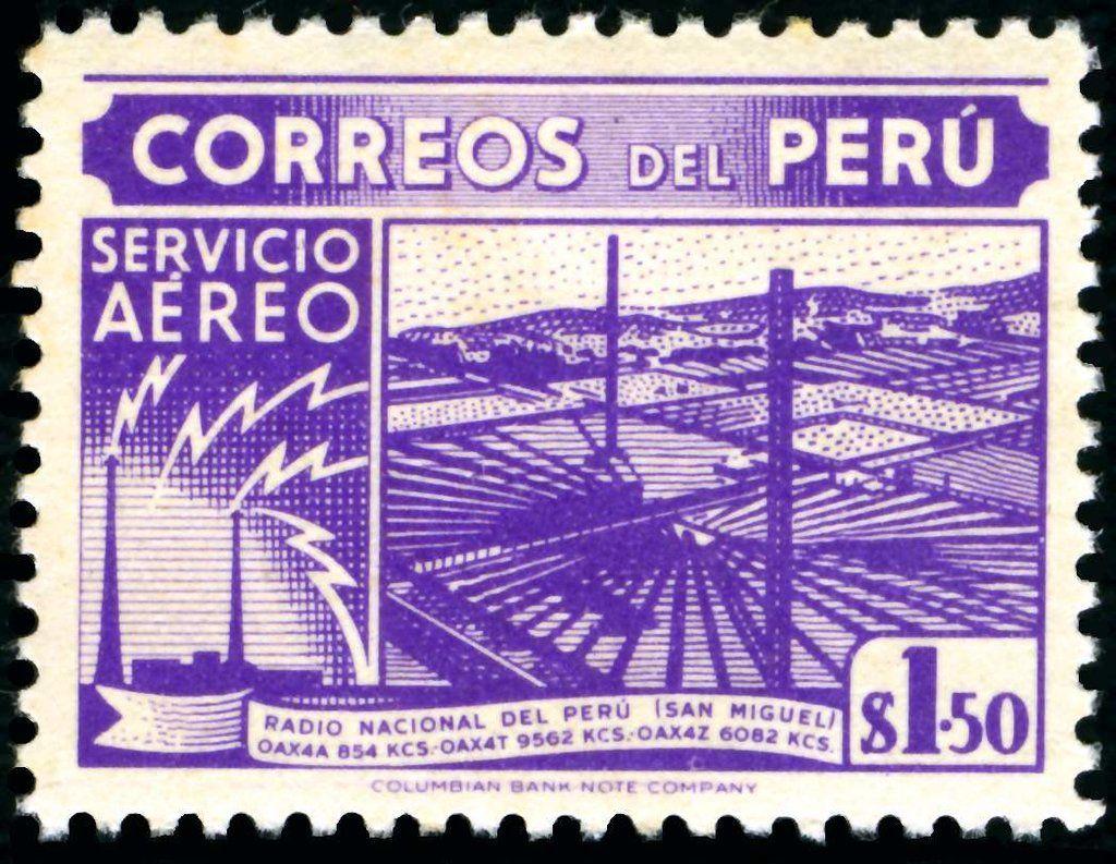Stamp: Stamps of 1938 printed by Columbian Bank Note (Peru) Mi:PE 449,Sn:PE C75,Yt:PE PA68