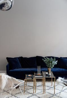 The Perfect Blue Velvet Couch Couches Living Room Living Room Sofa Interior