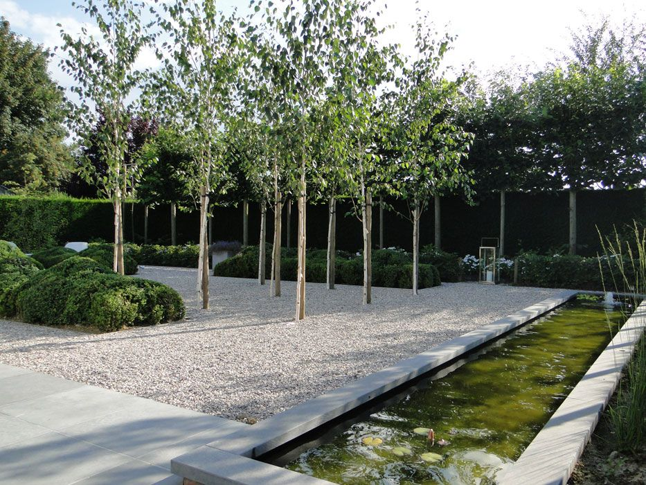Uso de grava espejo de agua thomas leplat jardines for Espejos para jardin