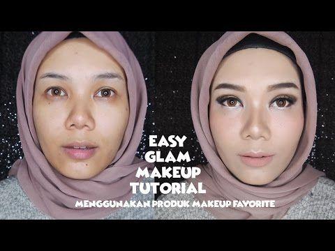Easy Glam Makeup Tutorial Menggunakan Produk Makeup Favorite Bahasa Indonesia Eyebrow Pencil Body Makeup