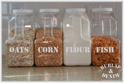 Bulk Food Storage for Pantry reused costco popcorn containers GOOD
