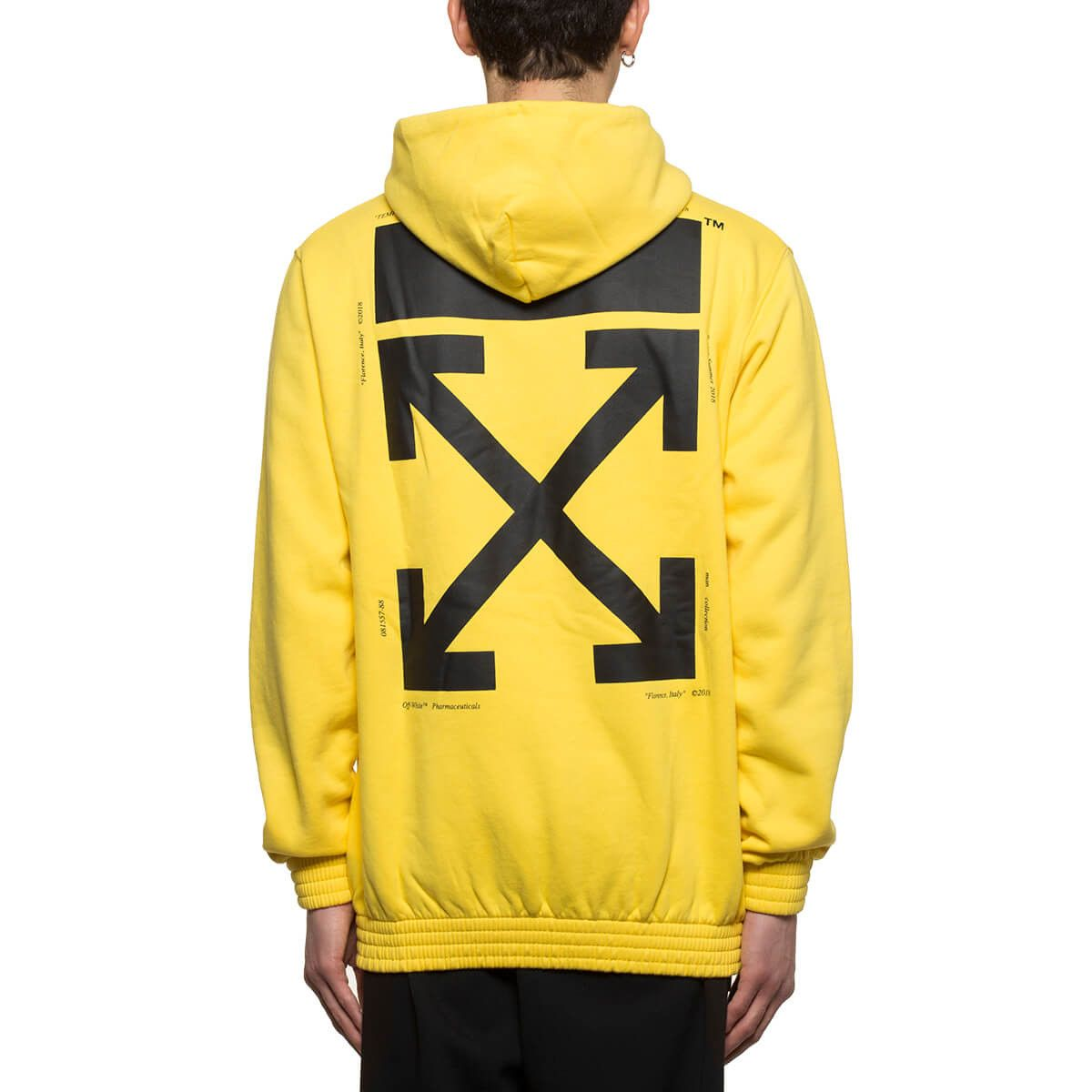 090066b795b6aa Hands hoodie from the S/S2018 Off-White c/o Virgil Abloh collection in  yellow