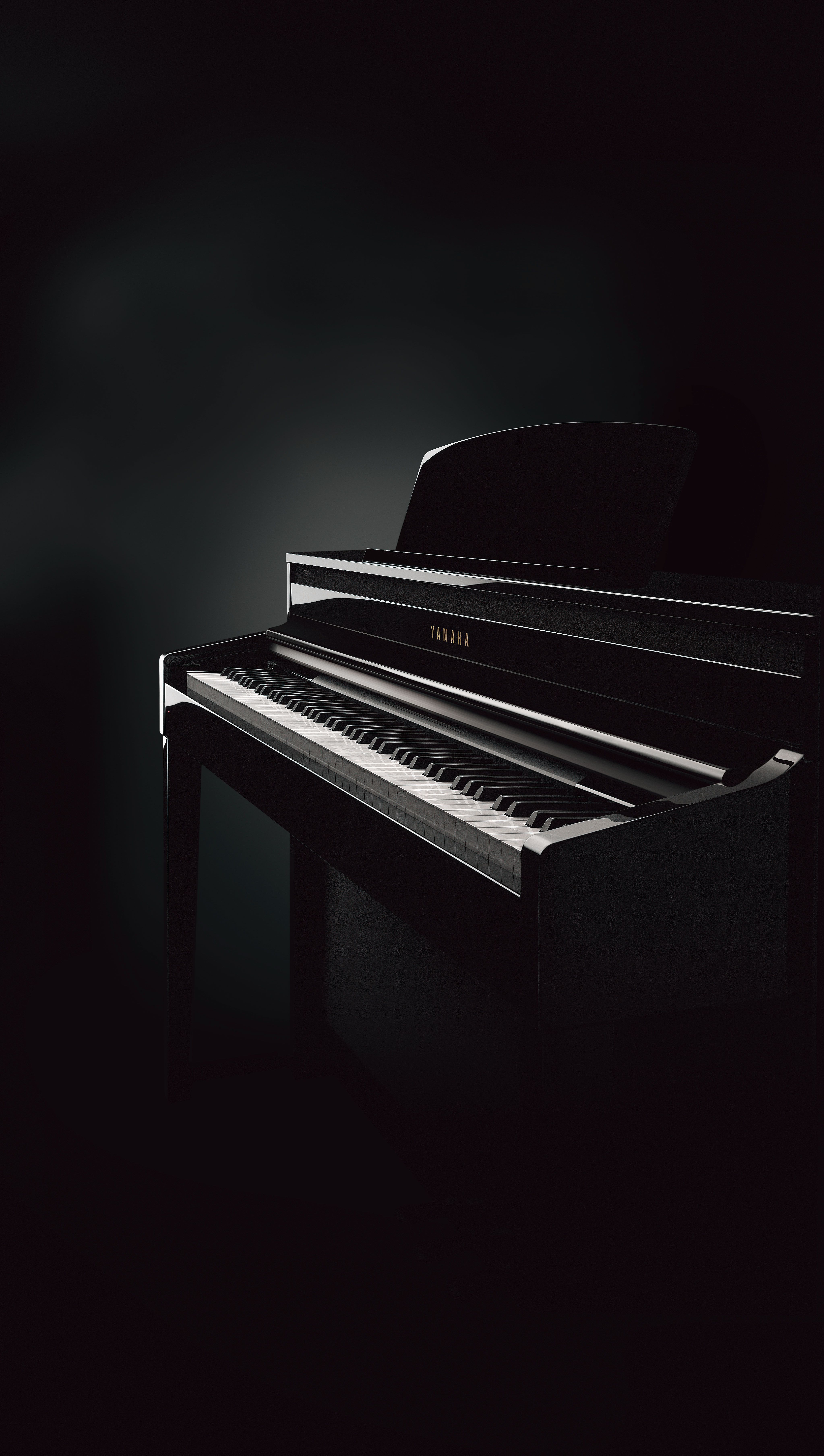 Clavinova Clp 480 Digital Piano In Polished Ebony Finish Panel Reveal Key Cover Hides The Operating Panel For A More Natural Piano Art Piano Photography Piano