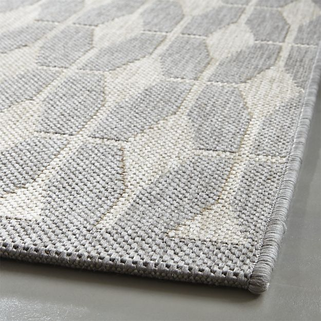 Crate & Barrel Aldo Dove Grey Indoor-Outdoor Rug | Dove grey ...