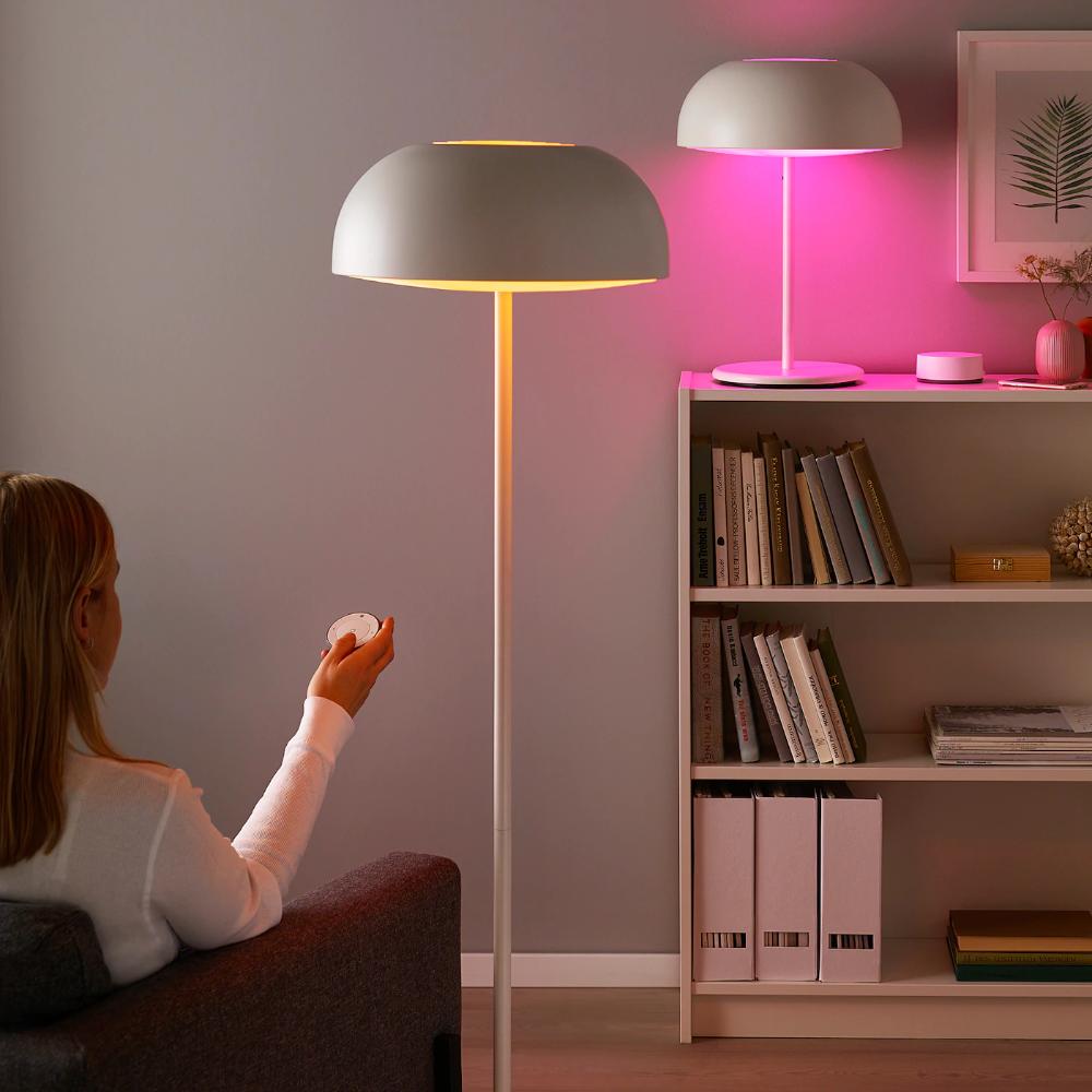 Tradfri Led Bulb E26 600 Lumen Wireless Dimmable Color And White Spectrum Color And White Spectrum Globe Opal Ikea In 2020 Led Bulb Smart Lighting Ikea Home