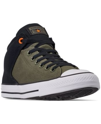 e1781111cffa86 Converse Men s Chuck Taylor All Star High Street Casual Sneakers from  Finish Line - Green 11.5