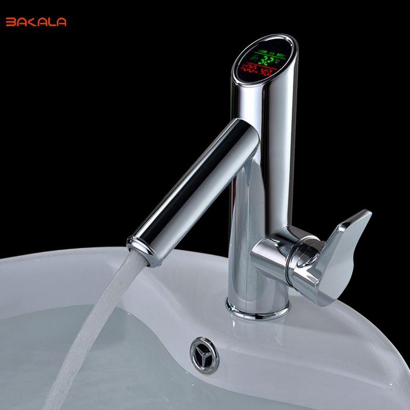 Us 107 10 Bakala Bathroom Led Digital Basin Faucet Water Power