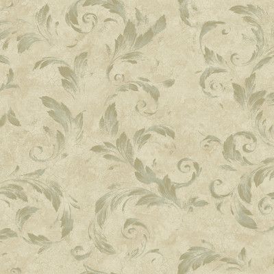 """Brewster Home Fashions Artistic Illusion Edith Acanthus Brushstroke 33' x 20.5"""" Floral 3D Embossed Wallpaper Color:"""