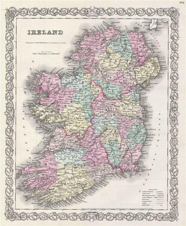 VINTAGE MAPS DINGLE BAY IRELAND - Google Search | images | Pinterest on