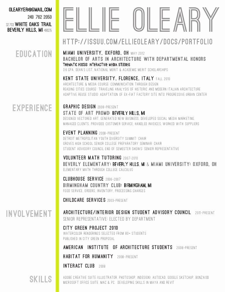 20 Entry Level Graphic Design Resume In 2020 Interior Design Resume Architect Resume Architecture Resume