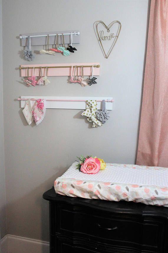 Necklace Holder Tween Decor Personalized Headband holder baby girl Nursery decor Baby Shower Gift