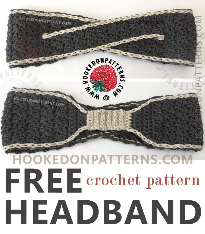 Free Crochet Headband Pattern   Ganchillo