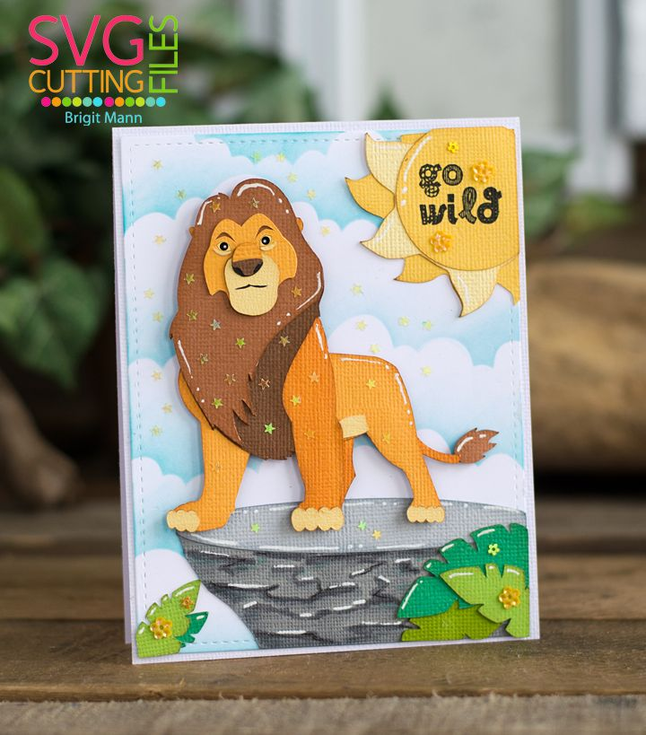 Hakuna Matata Lion King Blog Hop Lion King Disney Cards King Card